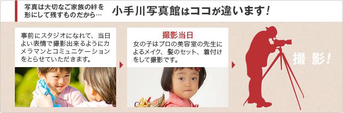 小手川写真館はココが違います!